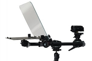 Small Executive Teleprompter Side View