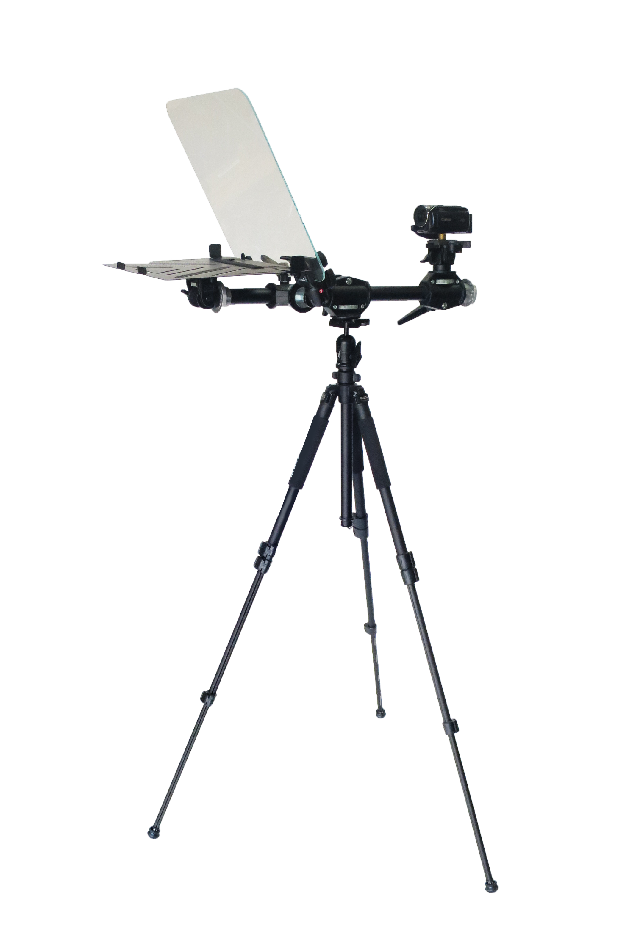 Executive Teleprompter Full Front View Telepromptermirror.com